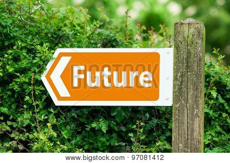 Direction Arrow, Sign To Future In Orange Color