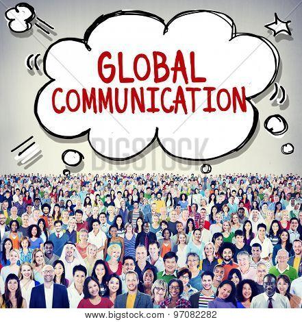 Global Communication Connection Community Concept