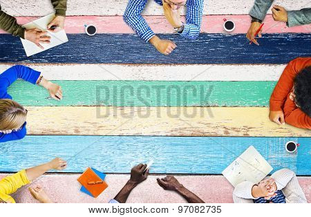 Diverse People Colorful Meeting Concept