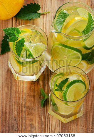 Cold Water With Fresh Lemon