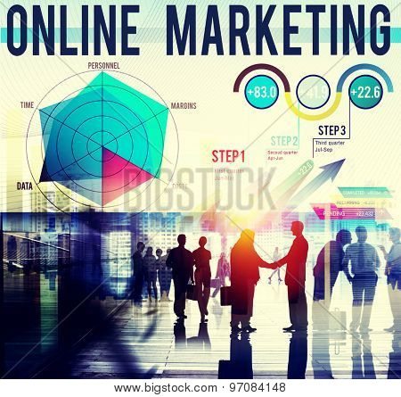 Online Marketing Global Business Strategy Concept