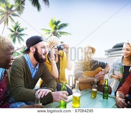 Beach Relaxation Beautiful Vacation Travel Tropical Concept