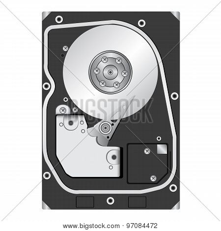Computer Hard Disk Drive.