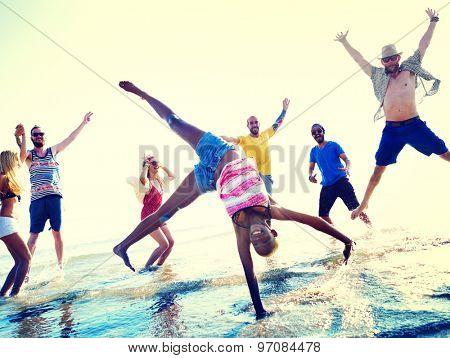 Friendship Freedom Beach Summer Holiday Concept
