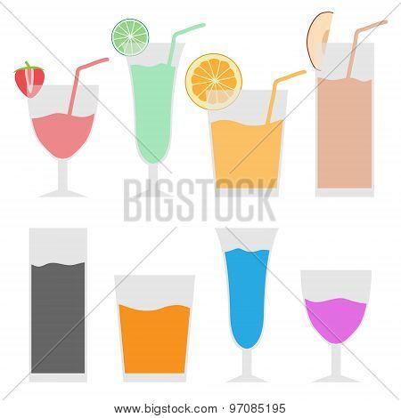 illustration art icon set juice