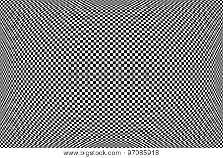 Checked geometric pattern. Abstract textured background. Vector art.