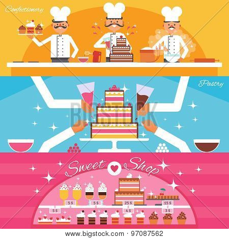 Confectionery Banners Set