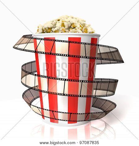 Popcorn Wraped Film Strip
