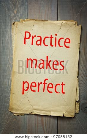 English proverb: Practice makes perfect. 50 most important english proverbs series