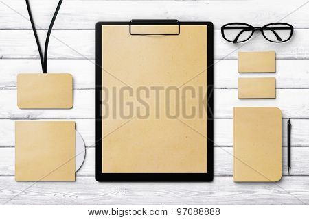 Paper Template For Branding Identity, Mock Up