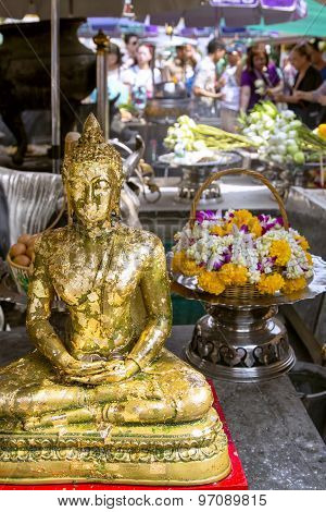 Offering for Gold Buddha in Wat Phra Kaew, Emerald Buddha Temple