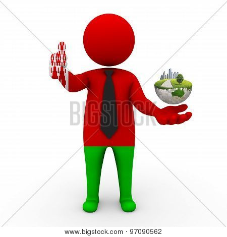 3d businessman people  Belarus - Environment and construction Belarus