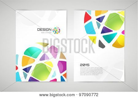 Vector globe brochure template. Abstract circle design and creative identity idea, blank, paper, ad,