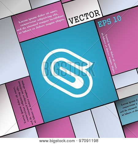 Paper Clip Icon Sign. Modern Flat Style For Your Design. Vector