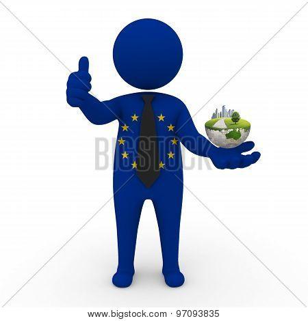 3d businessman people  EC - Environment and construction EC