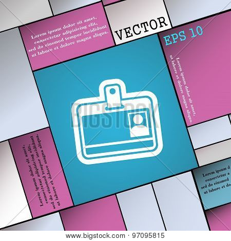 Id Card Icon Sign. Modern Flat Style For Your Design. Vector