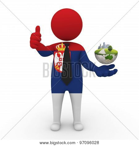 3d businessman people  Serbia - Environment and construction Serbia