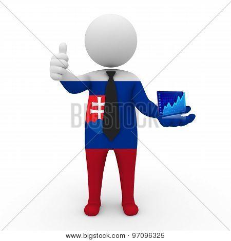 3d businessman people Slovakia - Stock Exchange of Slovakia