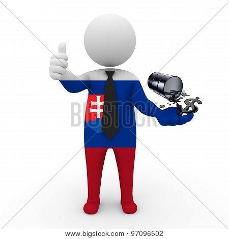 3d businessman people  Slovakia - oil business Slovakia