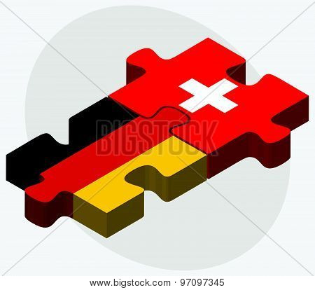 Germany And Switzerland Flags