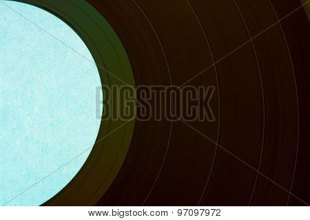 Vinyl Record Green Closeup