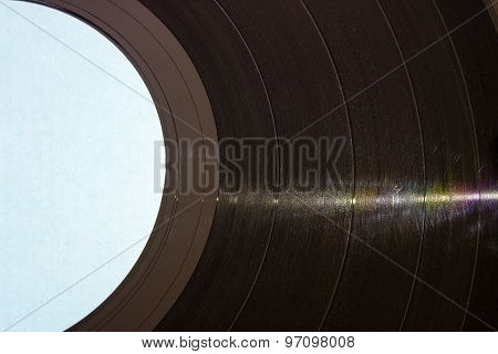 Vinyl Record Closeup