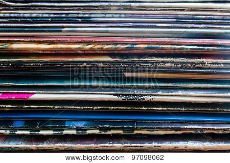 Vinyl Record In The Package Horizontally