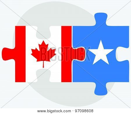 Canada And Somalia Flags