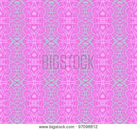Seamless pattern pink turquoise