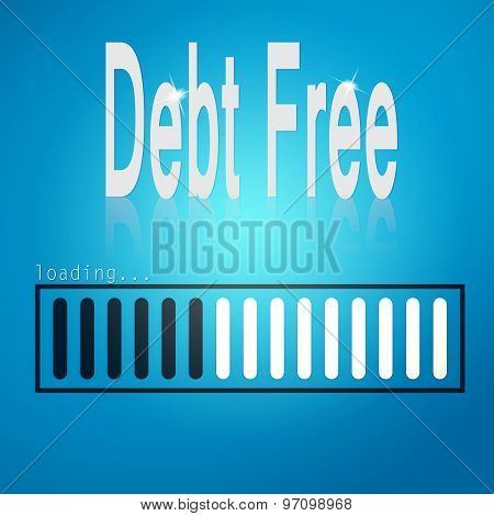 Debt Free Blue Loading Bar