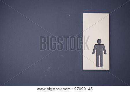 Men  toilet signs ( Filtered image processed vintage effect. )
