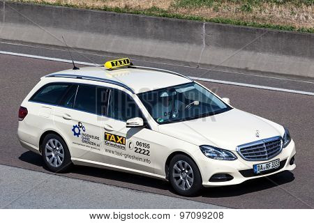 Mercedes Benz Taxi On The Highway