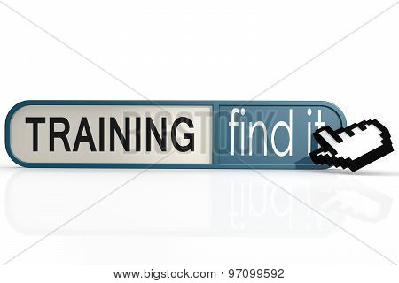 Training Word On The Blue Find It Banner