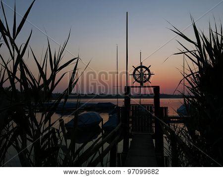 Sunset Scene At Lake Pfaffikon