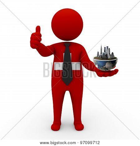 3d businessman people  Switzerland - Environment and construction Switzerland