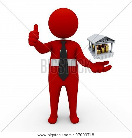 3d businessman people Switzerland- Banking and Finance