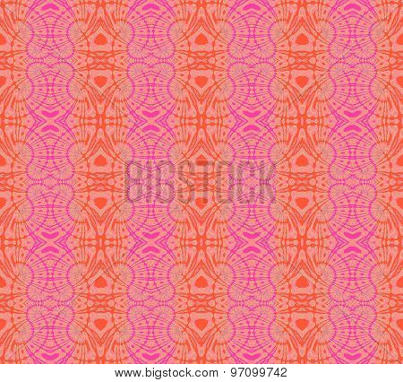 Seamless pattern orange pink