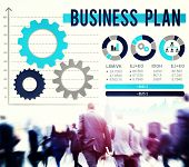 stock photo of objectives  - Business Plan Planning Strategy Development Objective Concept - JPG