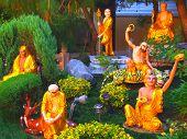 stock photo of hacienda  - Spiritual gardens where people meditate taken at a Buddhist Temple in Hacienda Heights - JPG