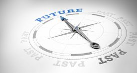 picture of past future  - Compass against future or past - JPG