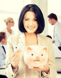 picture of money  - business and money saving concept  - JPG