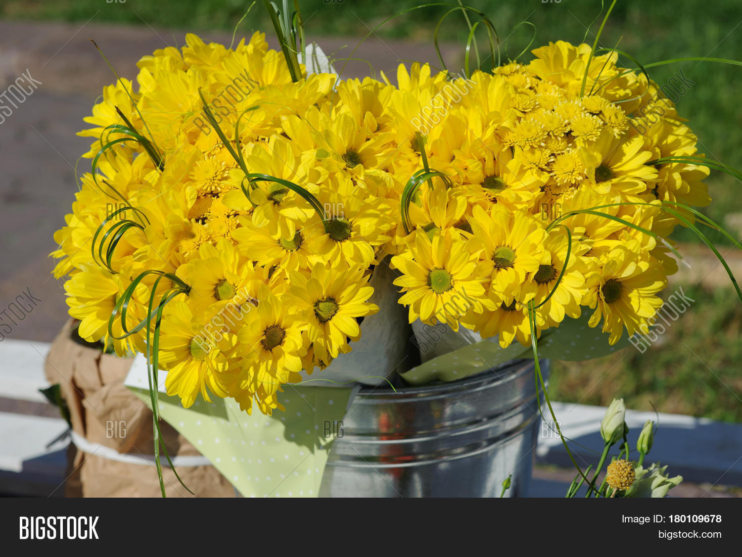 Yellow Chrysanthemum Bouquet Image & Photo | Bigstock
