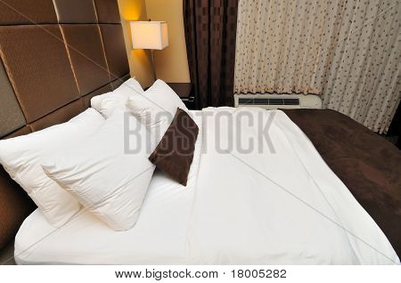 Side View Of Large Bed
