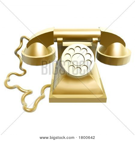 Golden Vintage Telephone