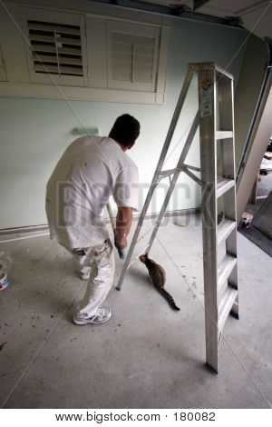 Painter With Cat_2