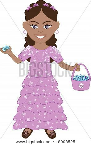 Purple Dress Flower Girl
