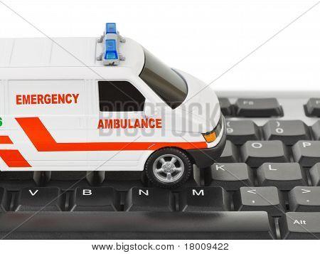 Computer Keyboard And Medical Car