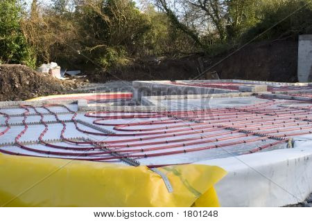 Foundation With Underfloor Heating