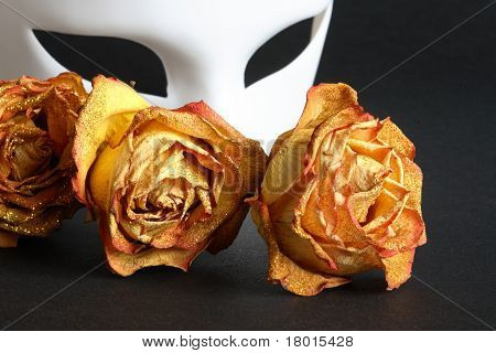 Venetian Mask And Roses