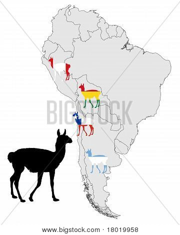 Guanaco Range Map
